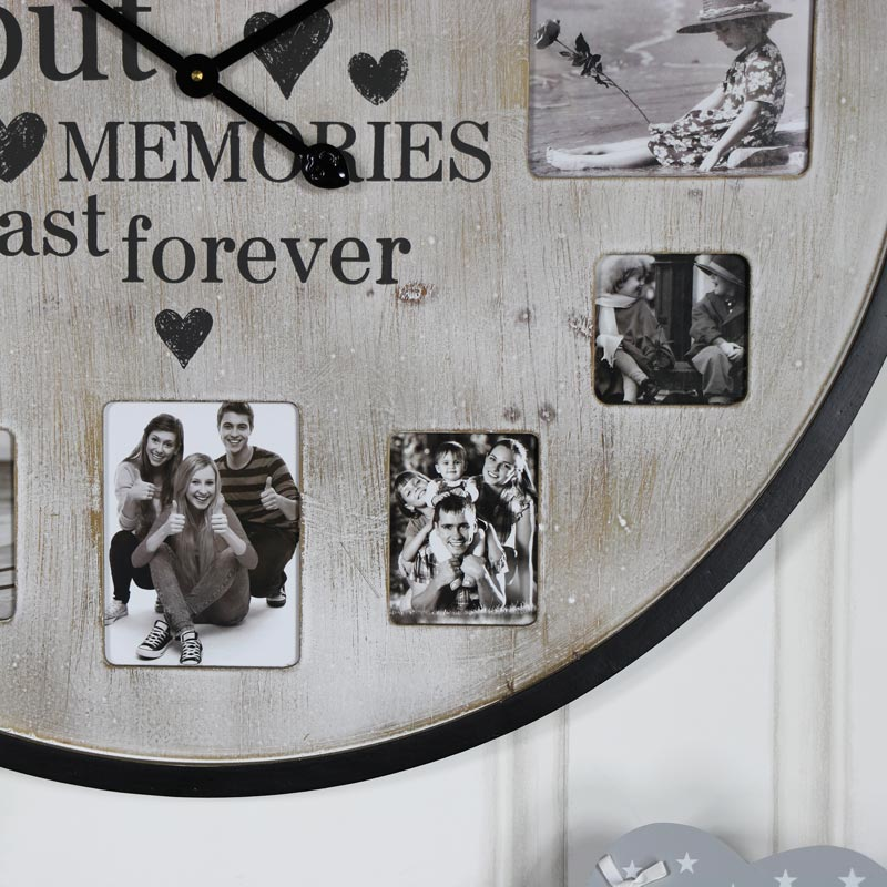 Extra Large Rustic Photograph Frame Wall Clock