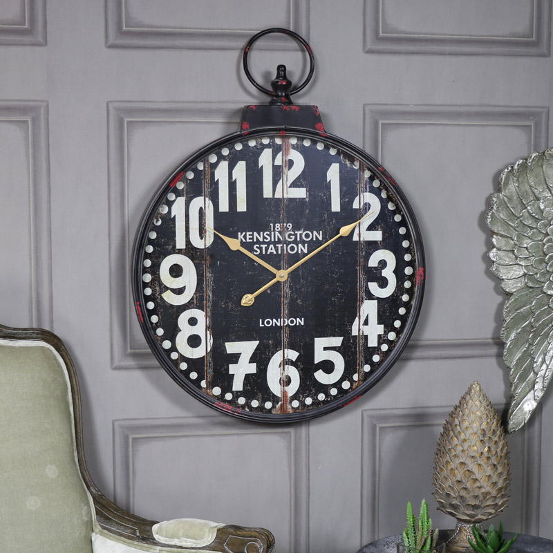 Extra large vintage style wall clock melody maison - Extra large wall clocks uk ...