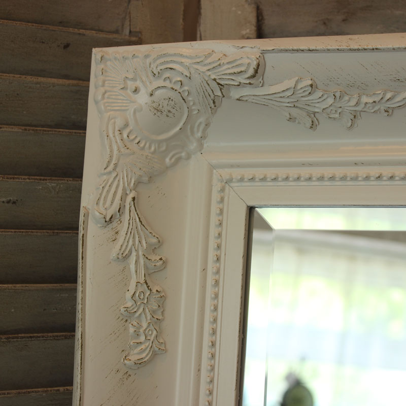 Extra Large White Ornate Mirror Melody Maison 174