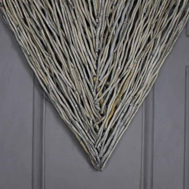 Extra Large Rustic Wicker Wall Mountable Heart