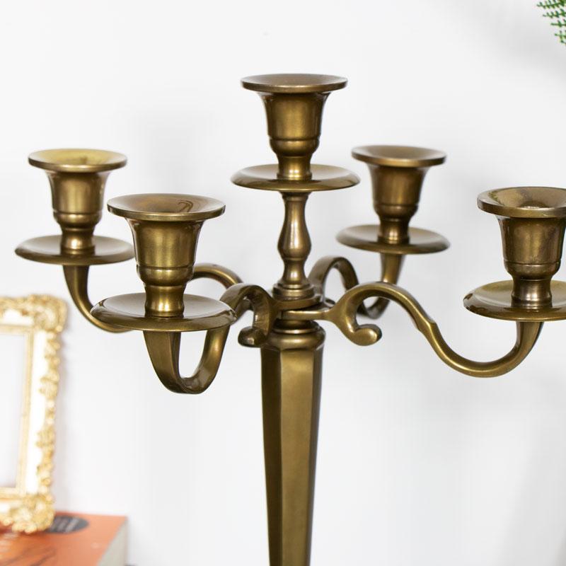 Five Arm Brass Candelabra