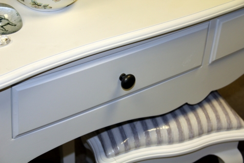 White dressing table large bedroom furniture vintage console hall drawers