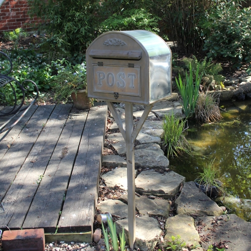 wooden outdoor post box mail shabby chic vintage