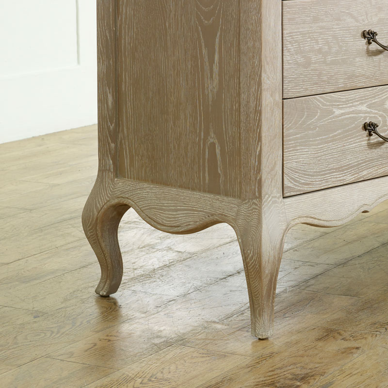 French Style 6 Drawer Chest of Drawers - Brigitte Range