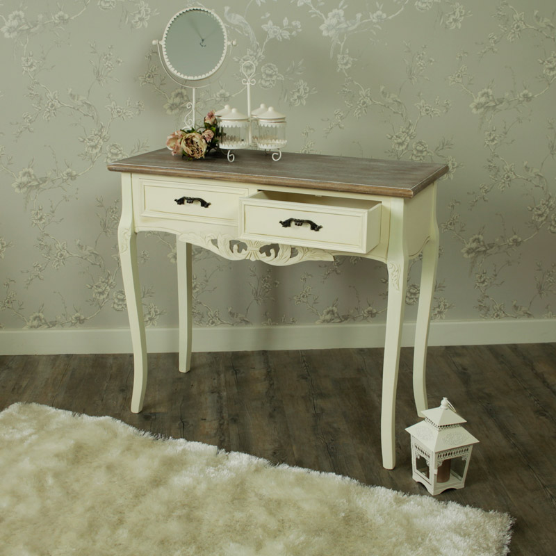 2 drawer console table ornate painted dressing table for 90cm dressing table
