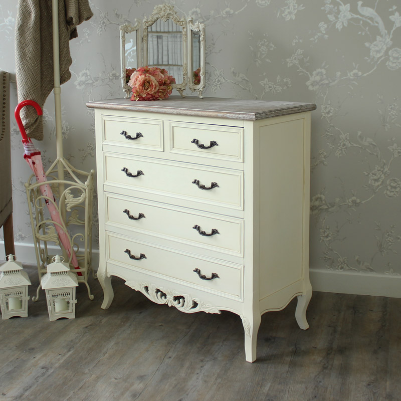Georgette Range - Cream 2 Over 3 Chest Of Drawers