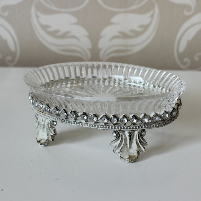 Glass And Diamond Detailed Soapdish
