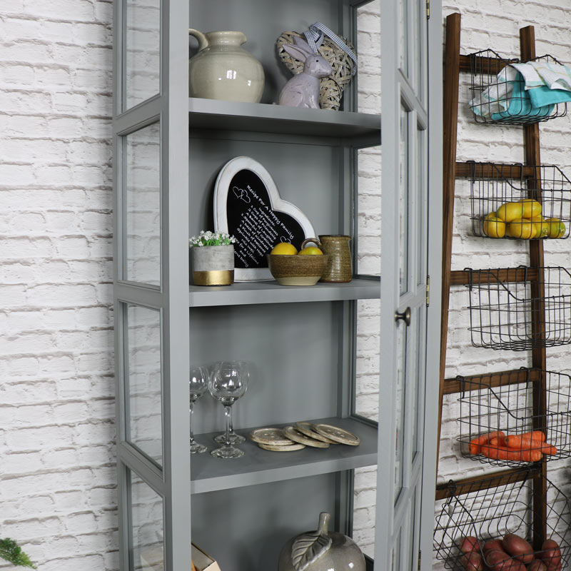 Glazed Display Cabinet With Drawer - Admiral Range