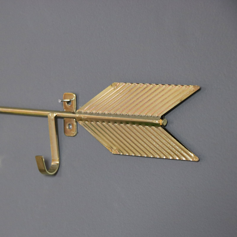 Gold Arrow Key Wall Hooks