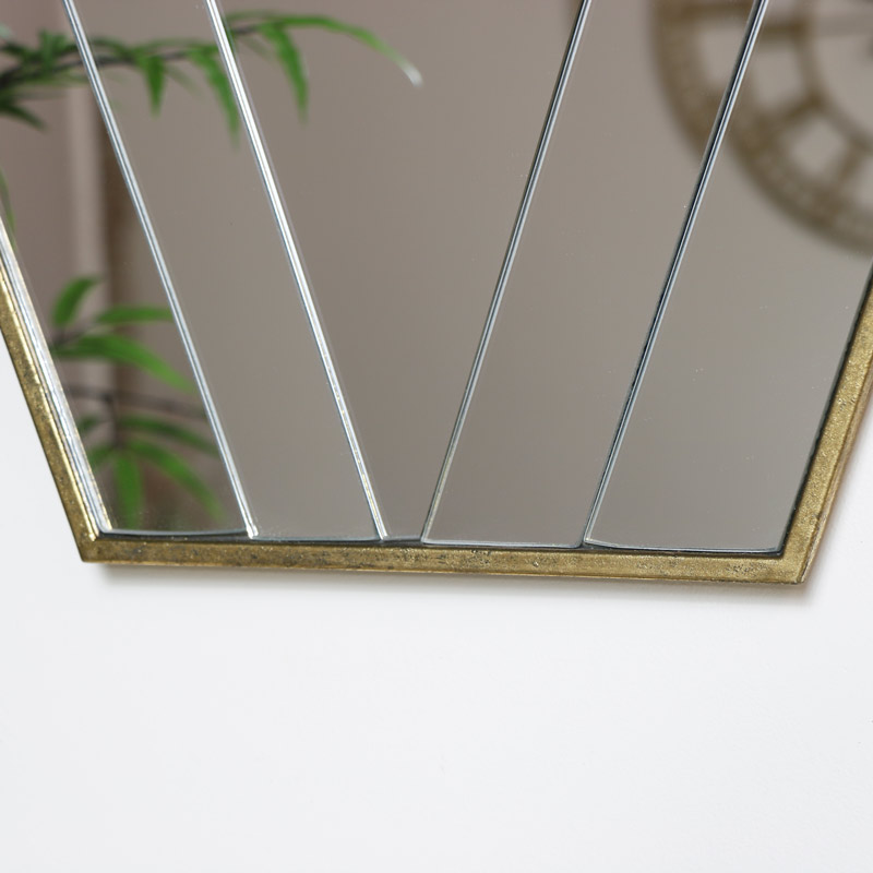 Gold Art Deco Wall Mirror Melody Maison