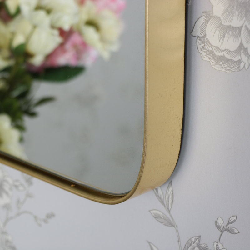 Gold Framed Vintage Wall Mounted Mirror 41cm x 50.5cm