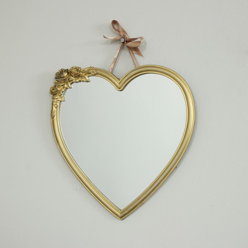 Gold Heart Wall Mirror