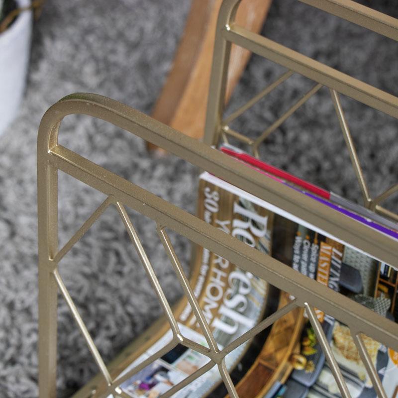 Gold Metal Magazine Rack