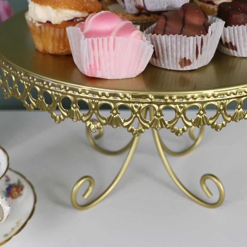 Gold Metal Vintage Cake Display Stand