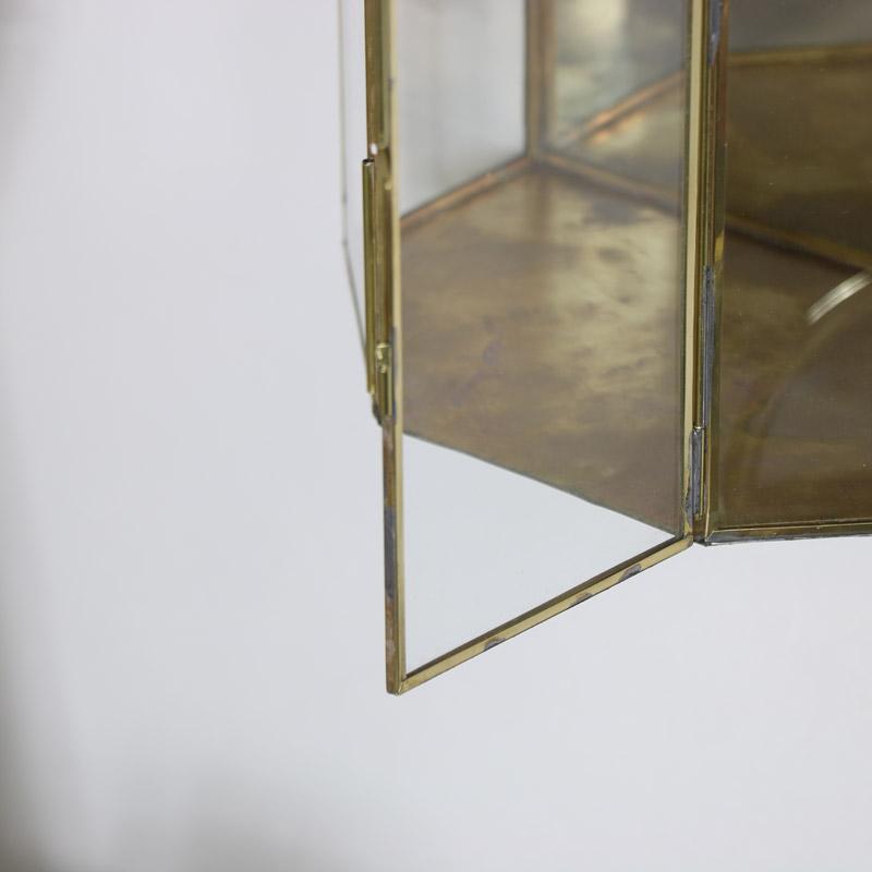 Gold Mirrored Glass Wall Candle Lantern Melody Maison
