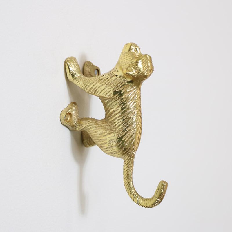 Gold Monkey Wall Hook