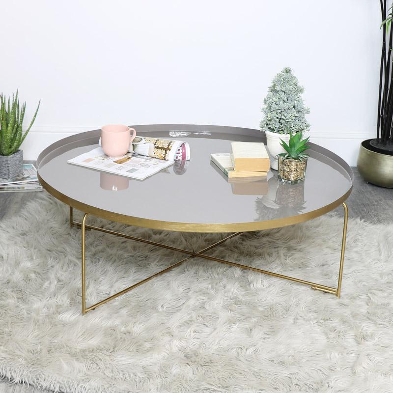 Gold & Purple Coffee Table
