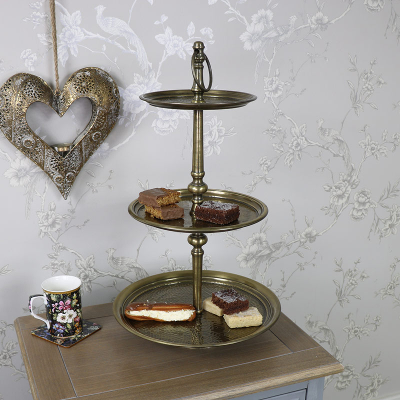 gold three tier cake stand melody maison. Black Bedroom Furniture Sets. Home Design Ideas