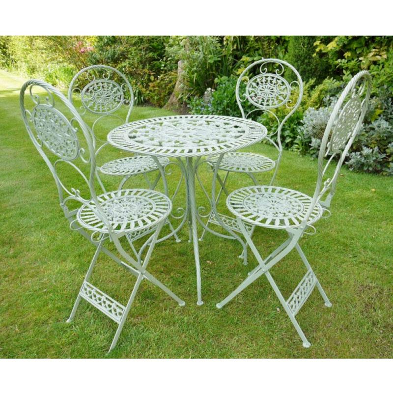 Green 4 Seater Bistro Garden Dining Set