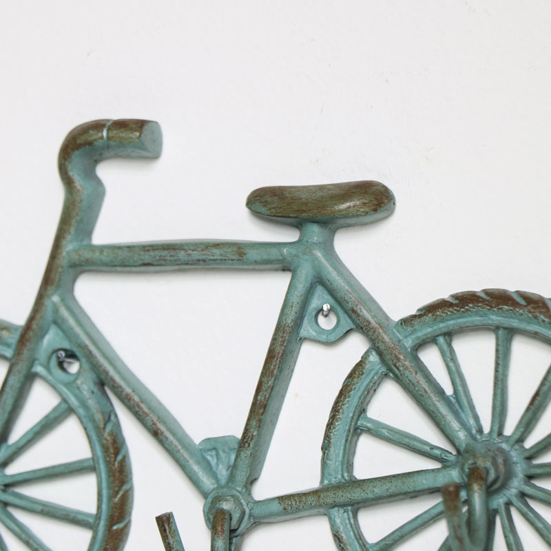 Green Bicycle Wall Hooks