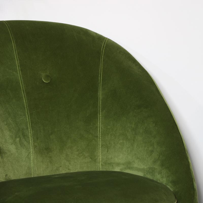 Green Velvet Occasional Tub Chair