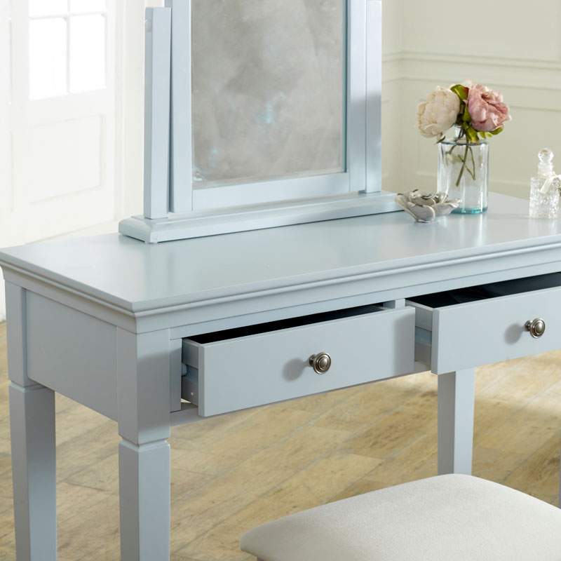Grey 2 Drawer Console / Dressing Table - Newbury Grey Range