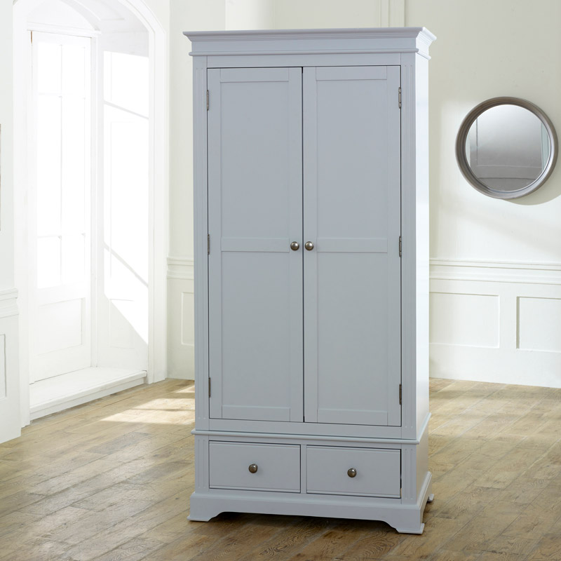 Grey Bedroom Furniture, Double Wardrobe, Chest of Drawers, Bedside Table - Davenport Grey Range