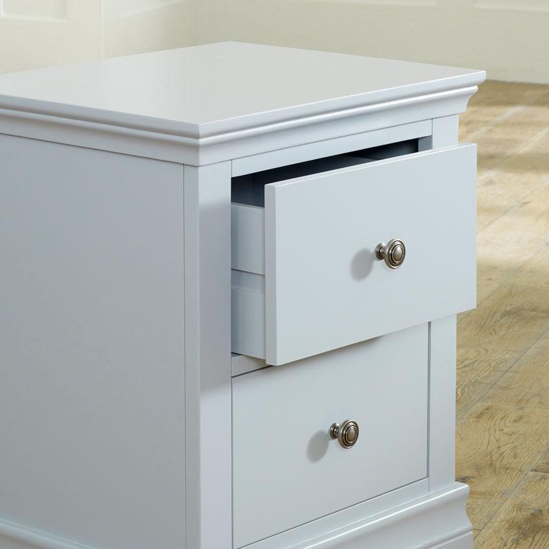 Grey Bedside Table - Newbury Grey Range