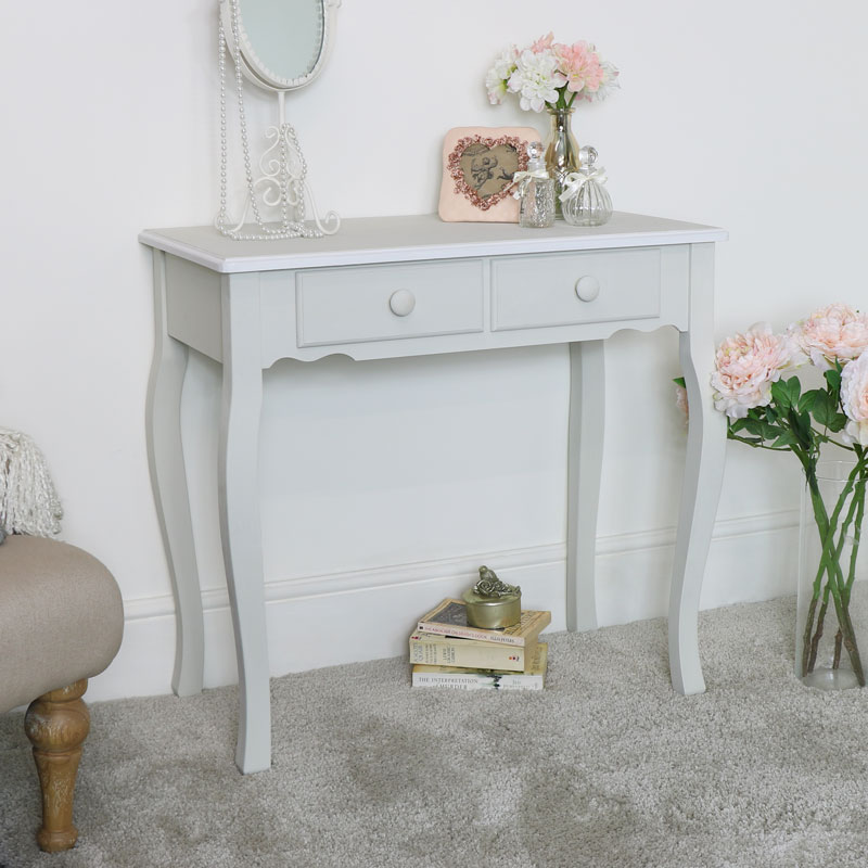 Grey Console / Dressing Table - Claudette Range