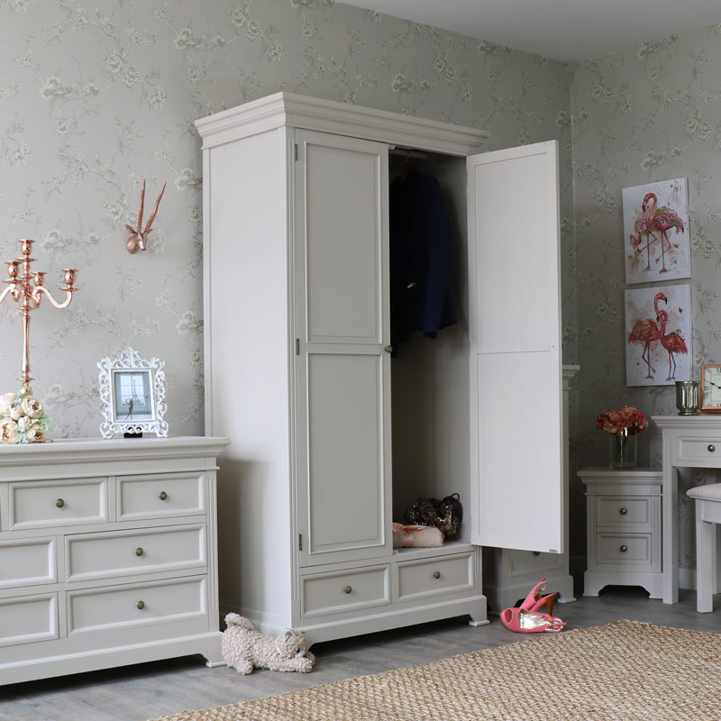 Grey Double Wardrobe - Daventry Range