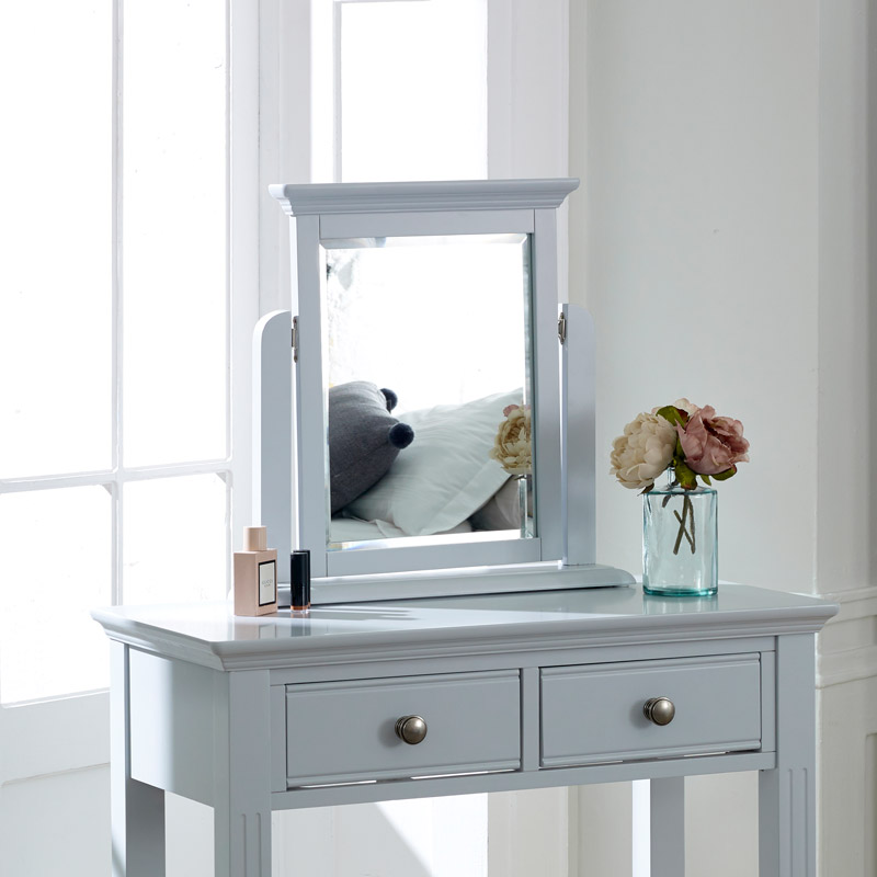 Grey Dressing Table Mirror - Davenport Grey Range