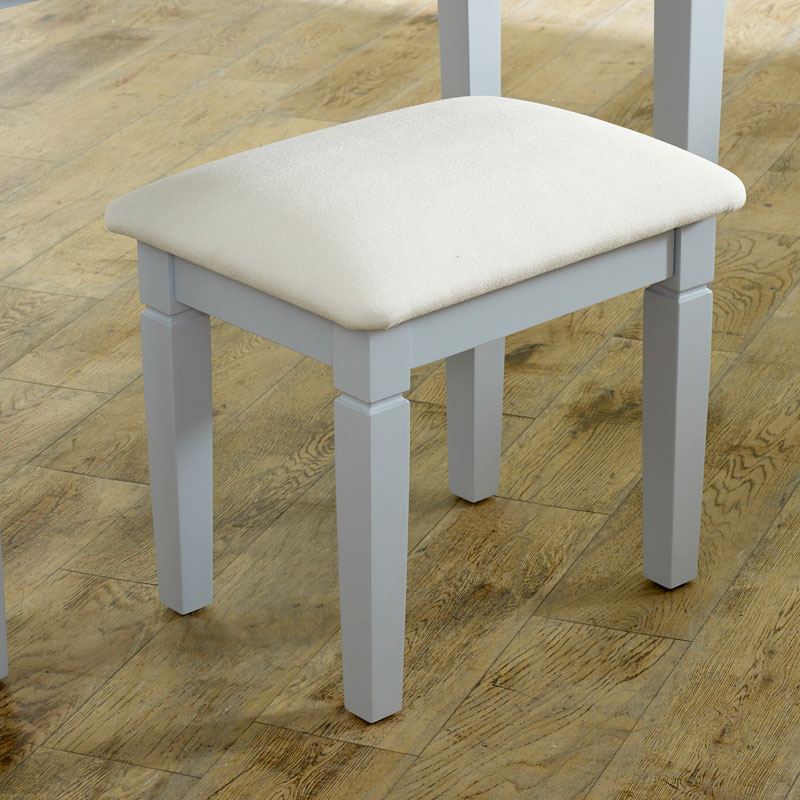 Grey Dressing Table Stool - Newbury Grey Range