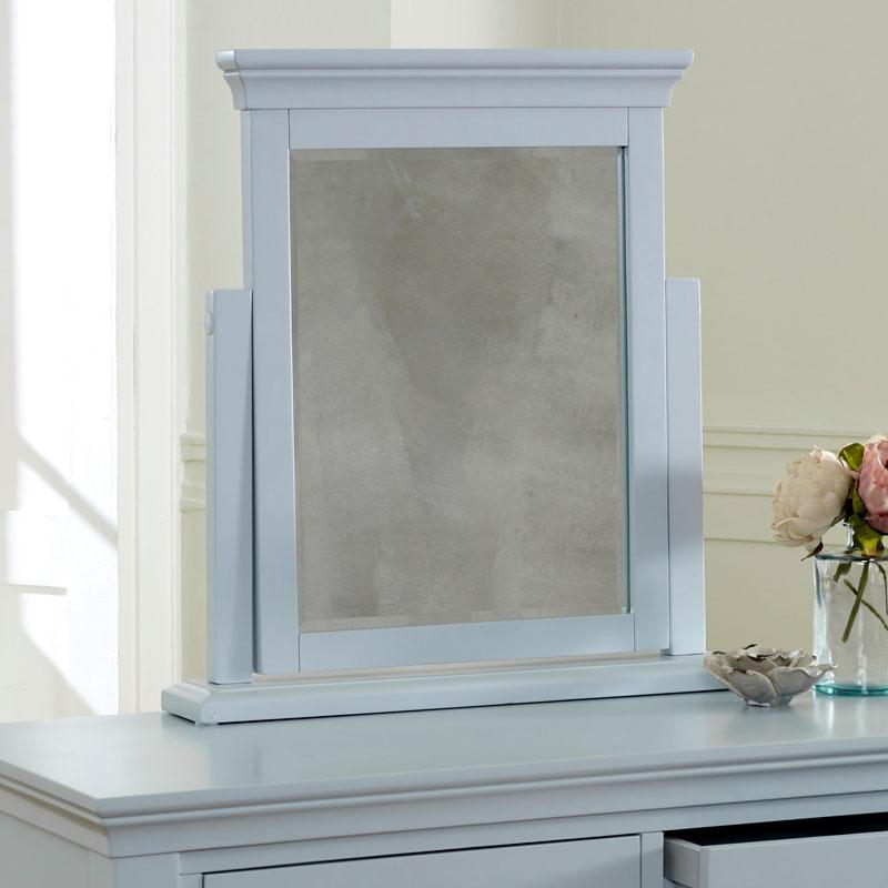 Grey Dressing Table Vanity Mirror - Newbury Grey Range