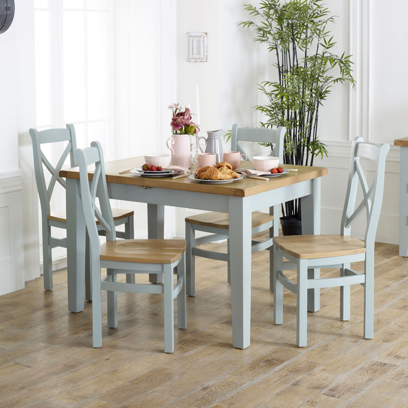 Awesome Grey Extendable Dining Table Chairs Rochford Range Home Interior And Landscaping Ologienasavecom