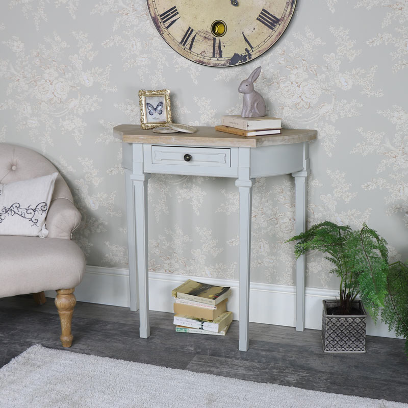 Grey Half Moon Console Table - Stanford Range