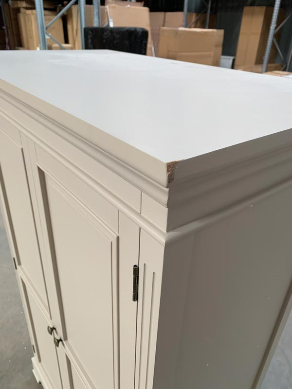Grey Linen Closet / Low Wardrobe - Daventry Taupe-Grey Range DAMAGED SECONDS 1084