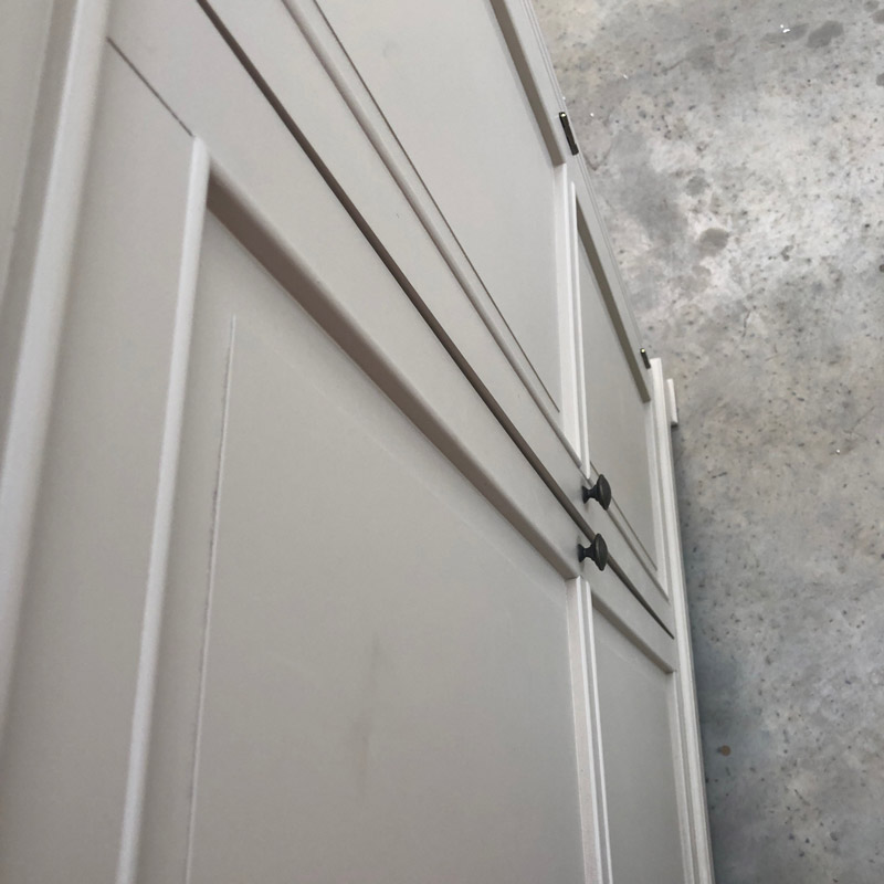 Grey Linen Closet / Low Wardrobe - Daventry Taupe-Grey Range DAMAGED SECOND 3088
