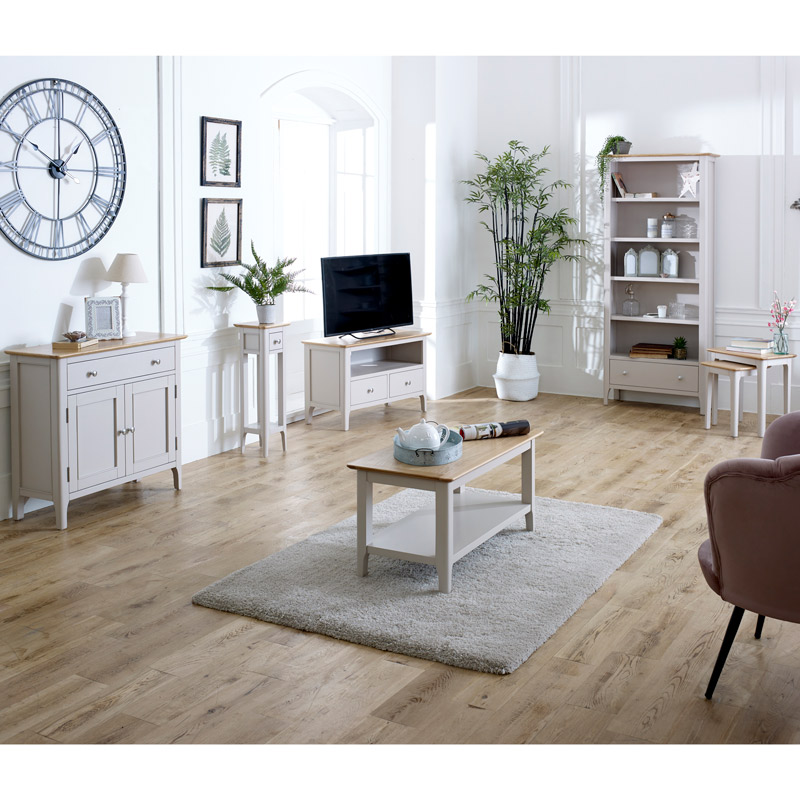 Grey Living Room Furniture Tv Cabinet Sideboard Coffee Table Lamp Table Nested Tables Devon Range