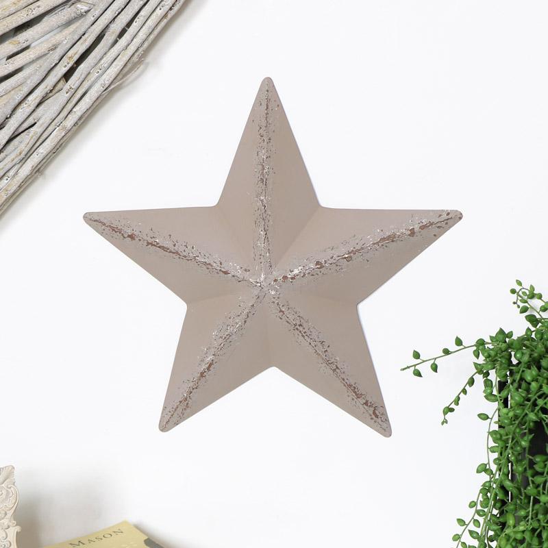 Grey Metal Barn Star
