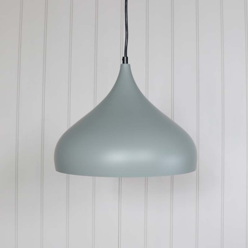 Dome Ceiling Light: Grey Metal Dome Pendant Ceiling Light Fitting