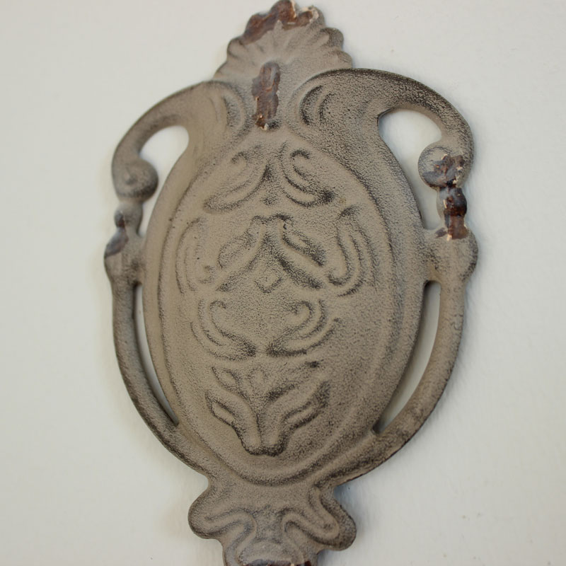 Grey Ornate single wall hook