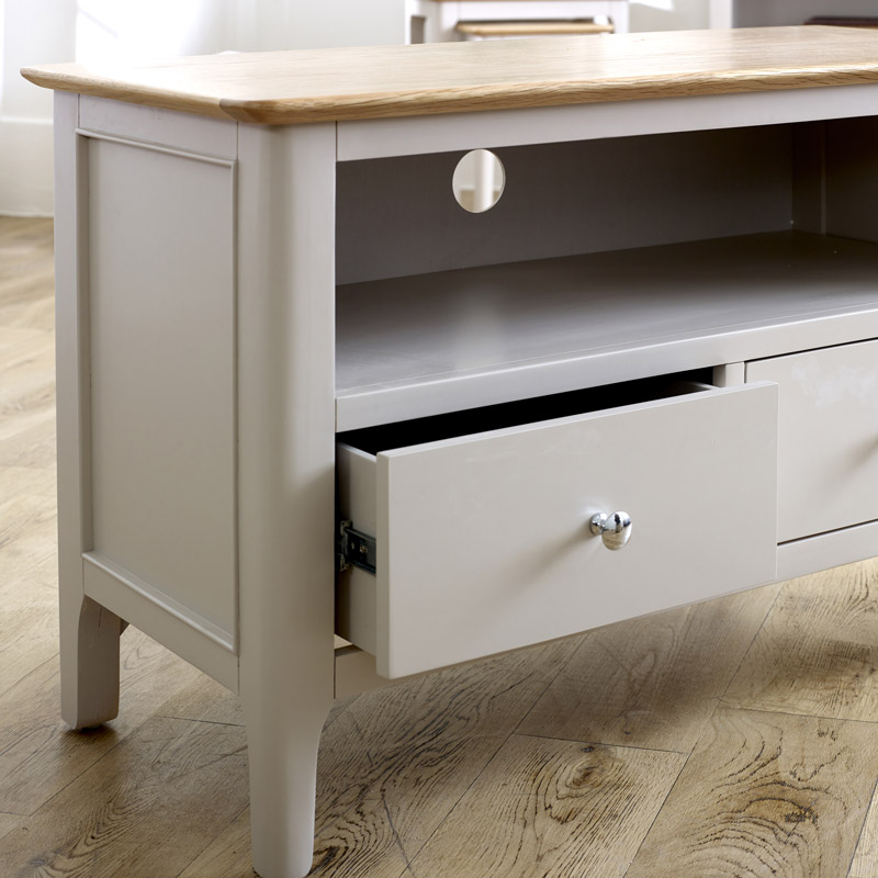 Grey TV Cabinet - Devon Range