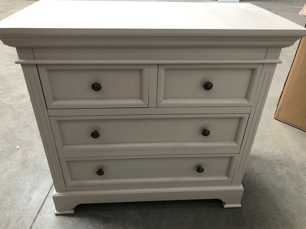 Grey Two Over Two Chest of Drawers - Daventry Taupe-Grey Range DAMAGED SECOND 1064