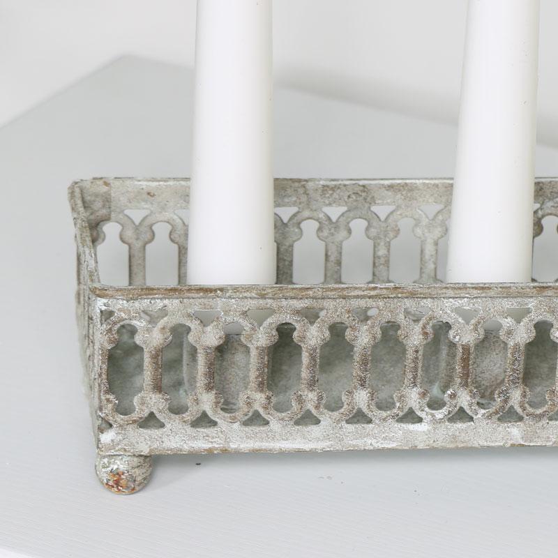 Grey Vintage Candle Tray