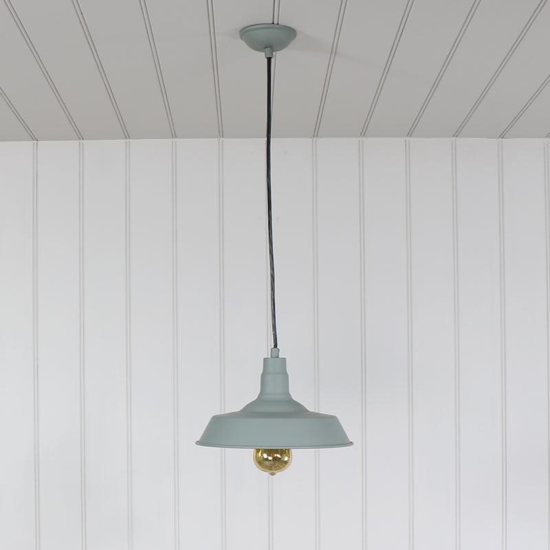 grau metall vintage h ngeleuchte scheune industriell stil heimk che halle ebay. Black Bedroom Furniture Sets. Home Design Ideas