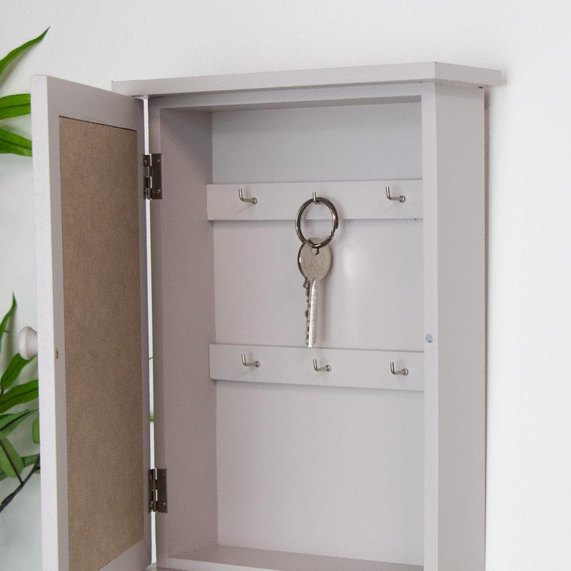 Grey Wall Mounted Key Cabinet