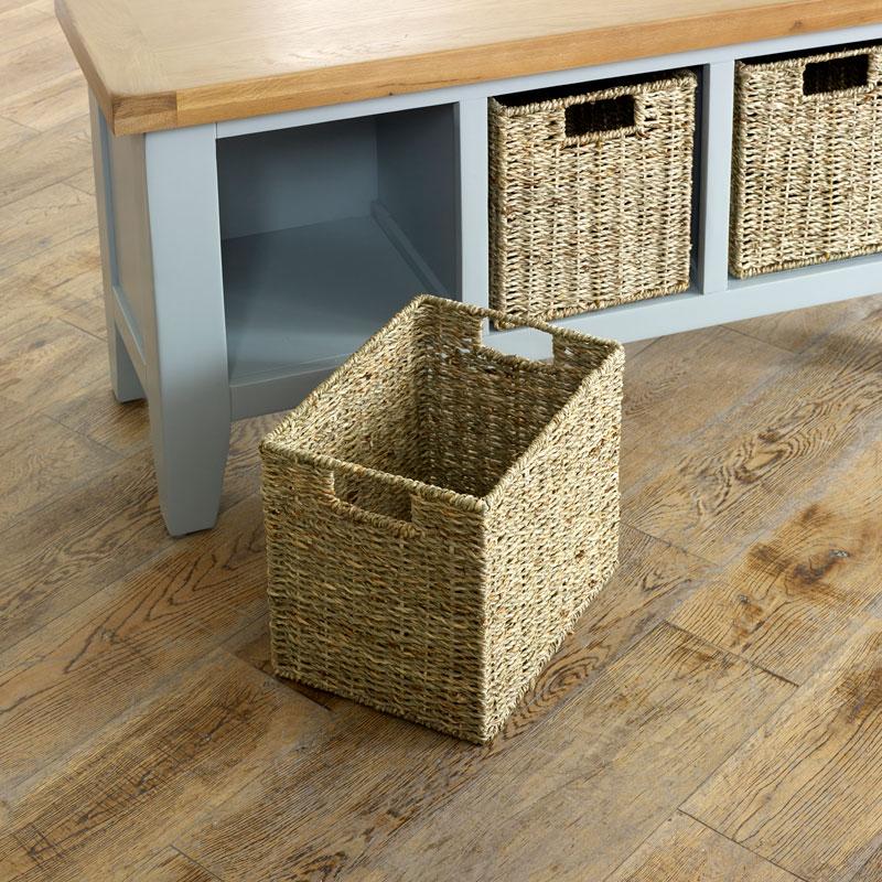 Grey Wooden Storage Bench - Rochford Range