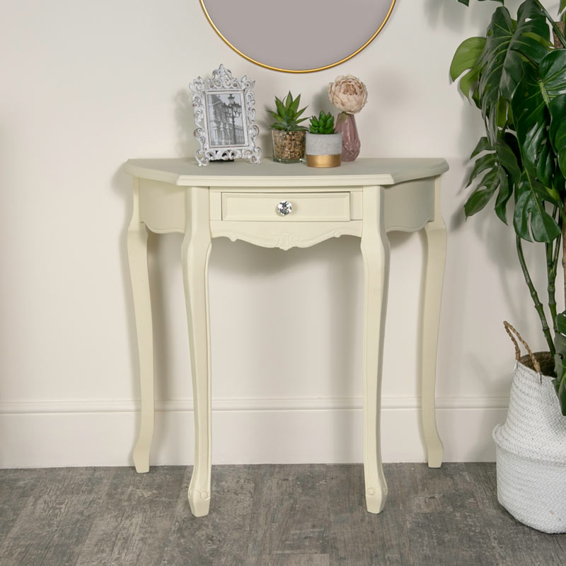 Cream Half Moon Table - Elise Cream Range
