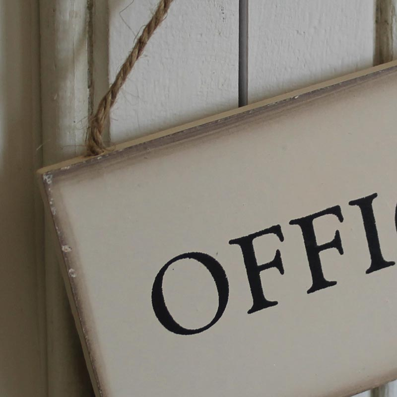 Hanging Vintage Office Door Sign