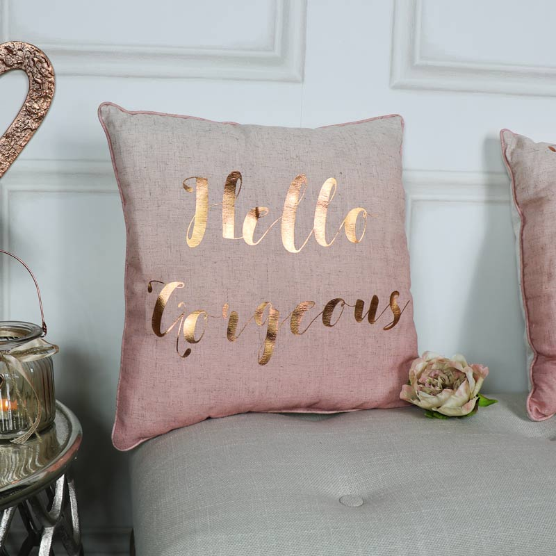 Fabulous Hello Gorgeous Pink Scatter Cushion - Melody Maison® IW14